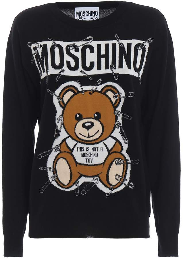 97217b1f67f6a Moschino This Is Not A Toy Intarsia Sweater | Products | Sweaters ...