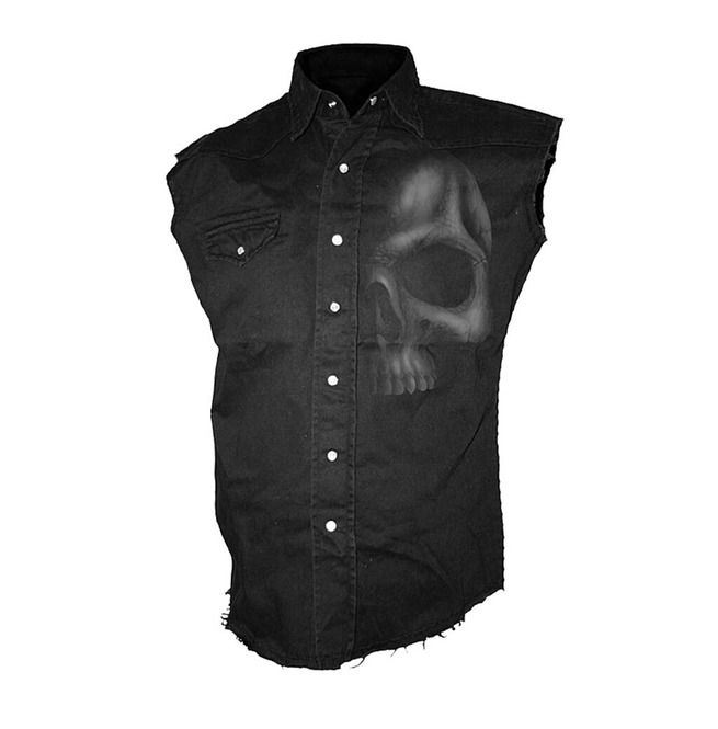 Spiral Shirt Soul Searcher Sleeveless Work Men/'s Black