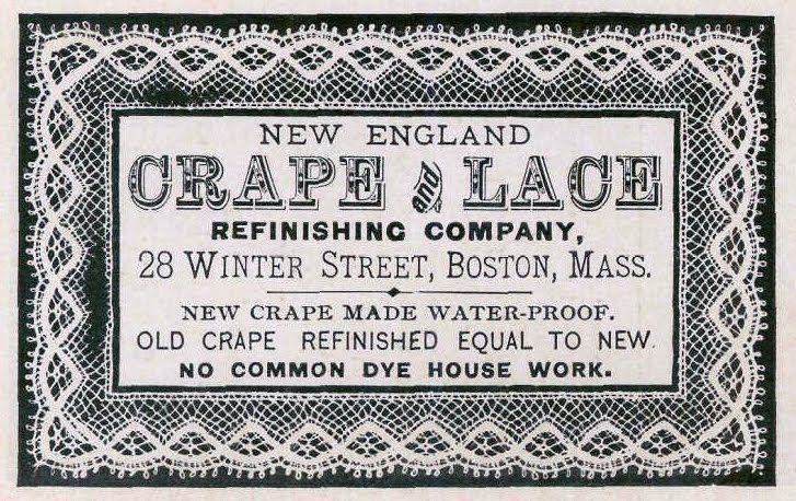Vintage Ephemera Textile trade card 1870 Vintage