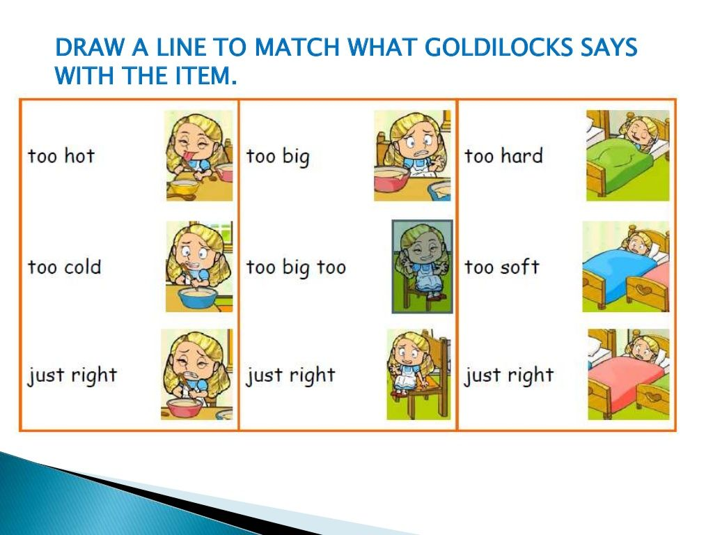 Slide 9 Of 17 Of Goldilocks And The Three Bears