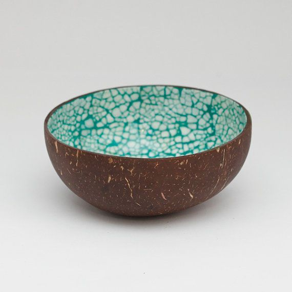 Marvelous Etsy の Coconut Bowl With Lacquer Eggshells By Namigurumi Photo