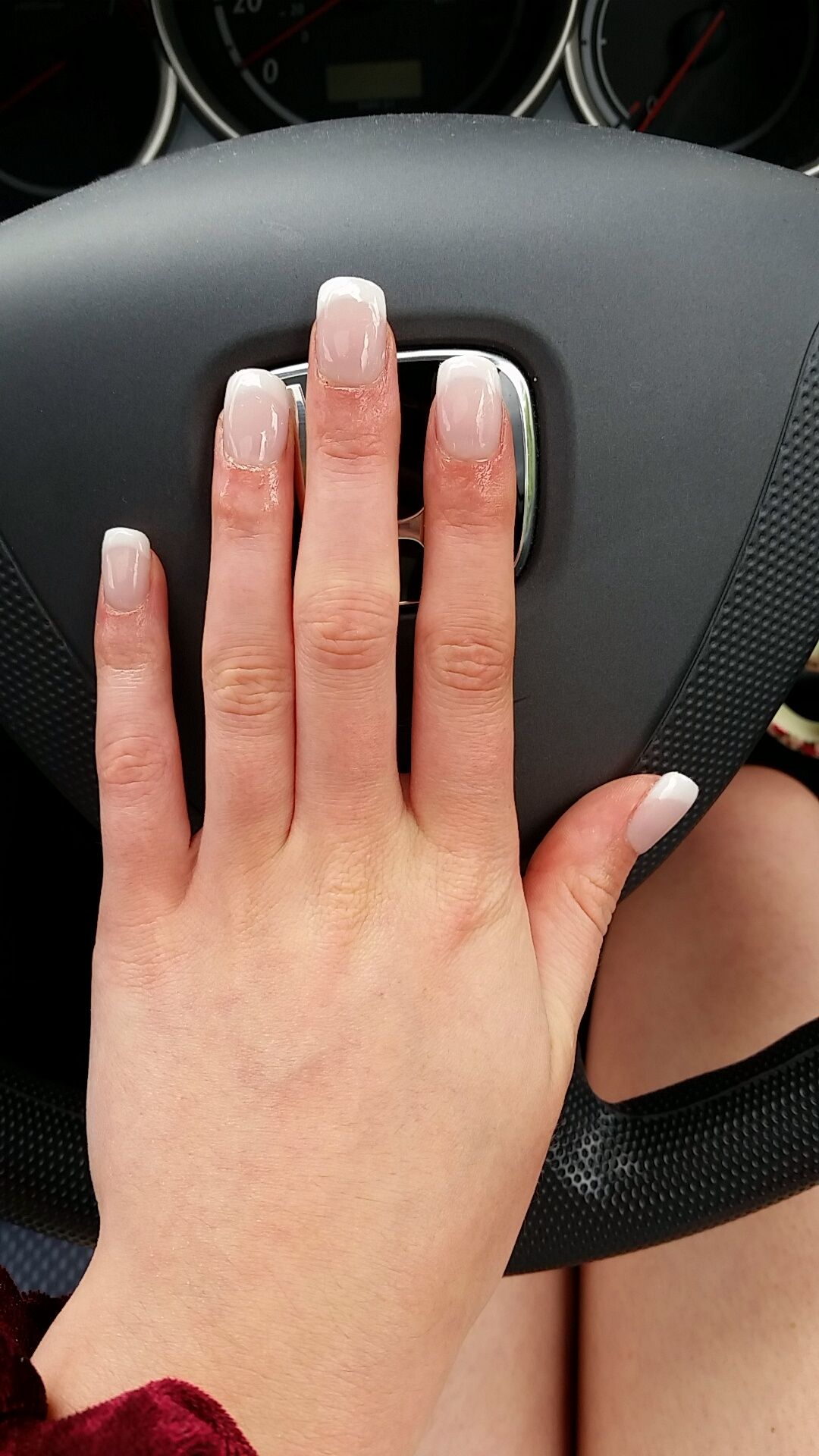 Leaver\'s Ball French Manicure Nails by Deja Vu nail and beauty salon ...