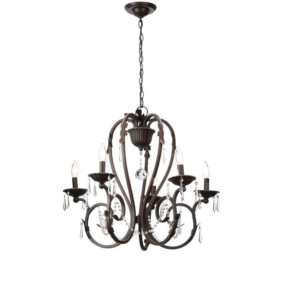Home Decorators Collection Madison 5-Light Bronze Chandelier   #1 ...
