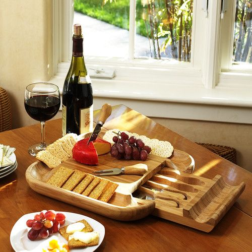 Found it at Wayfair - Malvern 5 Piece Cheese Tray Set