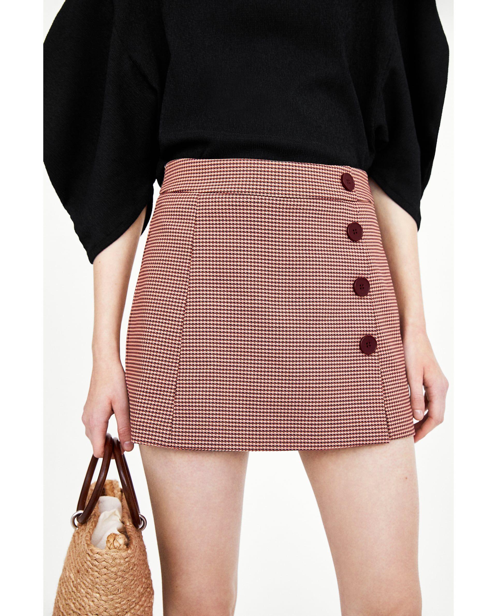 055d24e5 Image 3 of BUTTONED SKORT from Zara | fshn & styl in 2019 | Skort ...