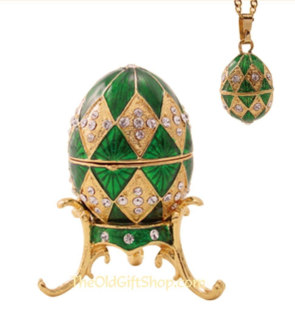 Emerald Green Fabrege Egg - Favors