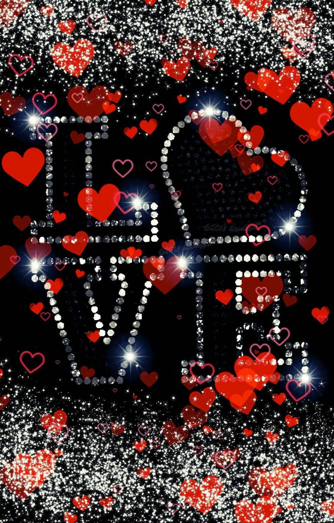 Red Hearts Love Glitter Wallpaper I Created For Cocoppa Heart Wallpaper Love Wallpapers Romantic Love Wallpaper