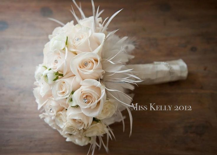 Wedding Flowers Using Ostrich Feathers