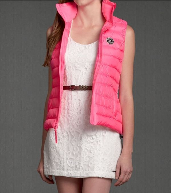 Abercrombie and Fitch!New Womens Hot Pink Outerwear Puffer Vest~Medium-Large #AbercrombieFitch #Puffer