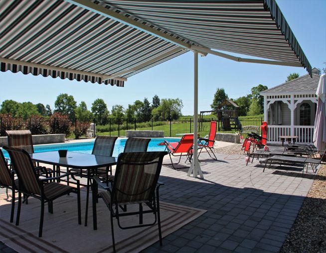 Our patio awning covers and canopies help you enjoy the outdoors without having to worry about the sun. The Shadespot Freestanding Shelter will protect you ... & Enjoy the great outdoors w/out worrying about the sun thanks to ...