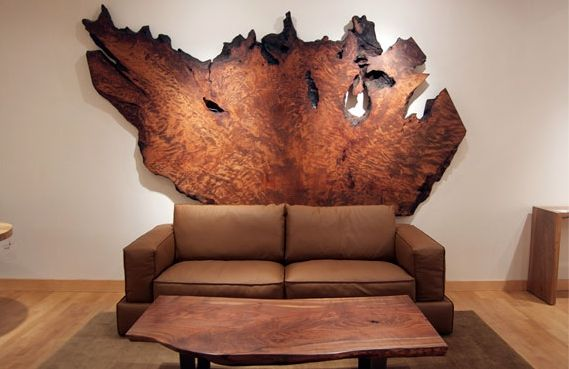Urban Hardwoods Furniture - San Francisco, redwood headboard