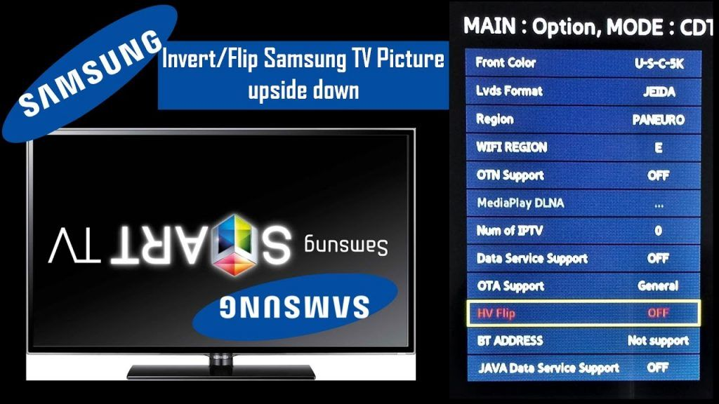 China Led Tv Flip Invert Picture Up Down Mirror Mode With Service Menu Led Tv Samsung Tvs Data Services