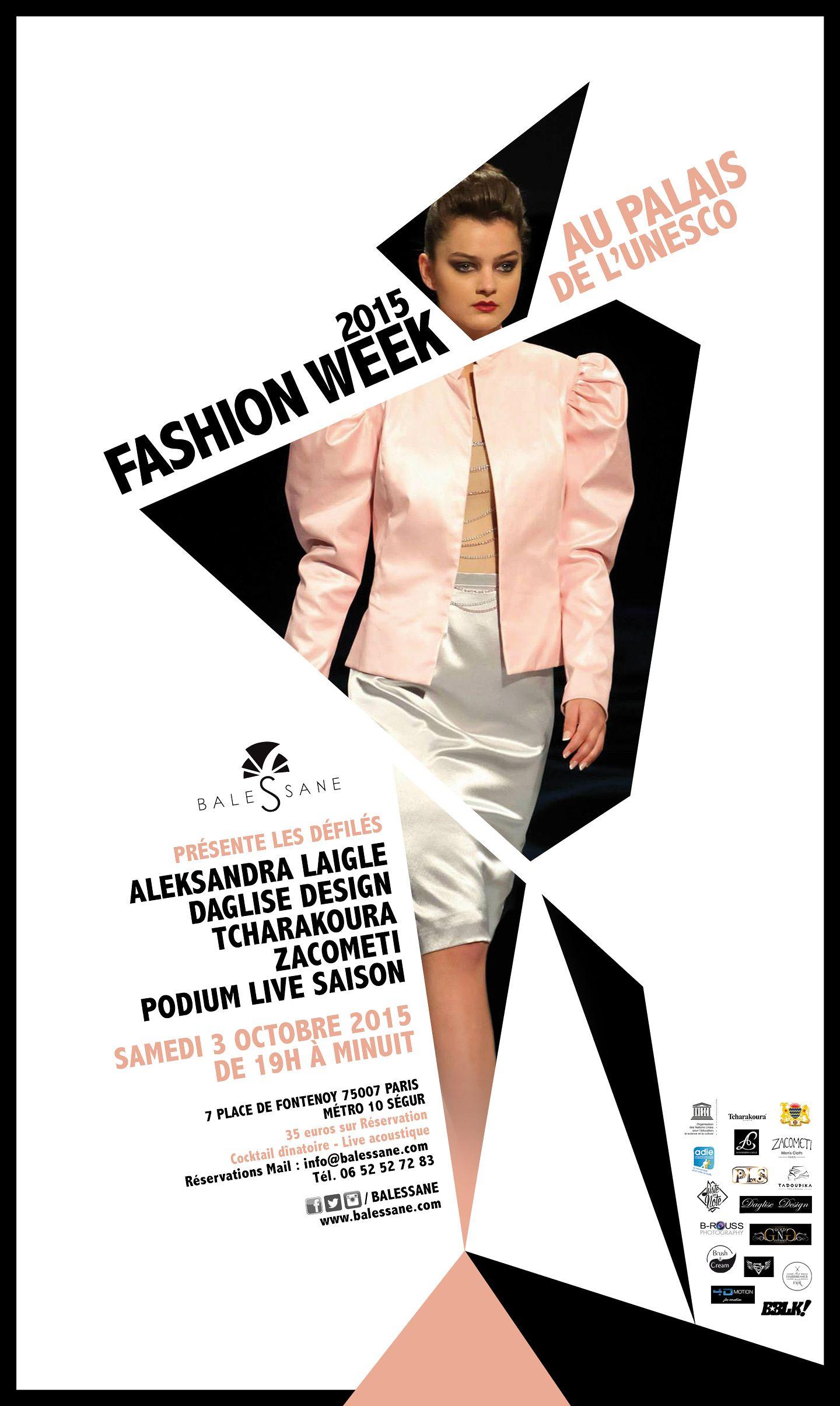 affiche de la balessane fashion week paris 2015