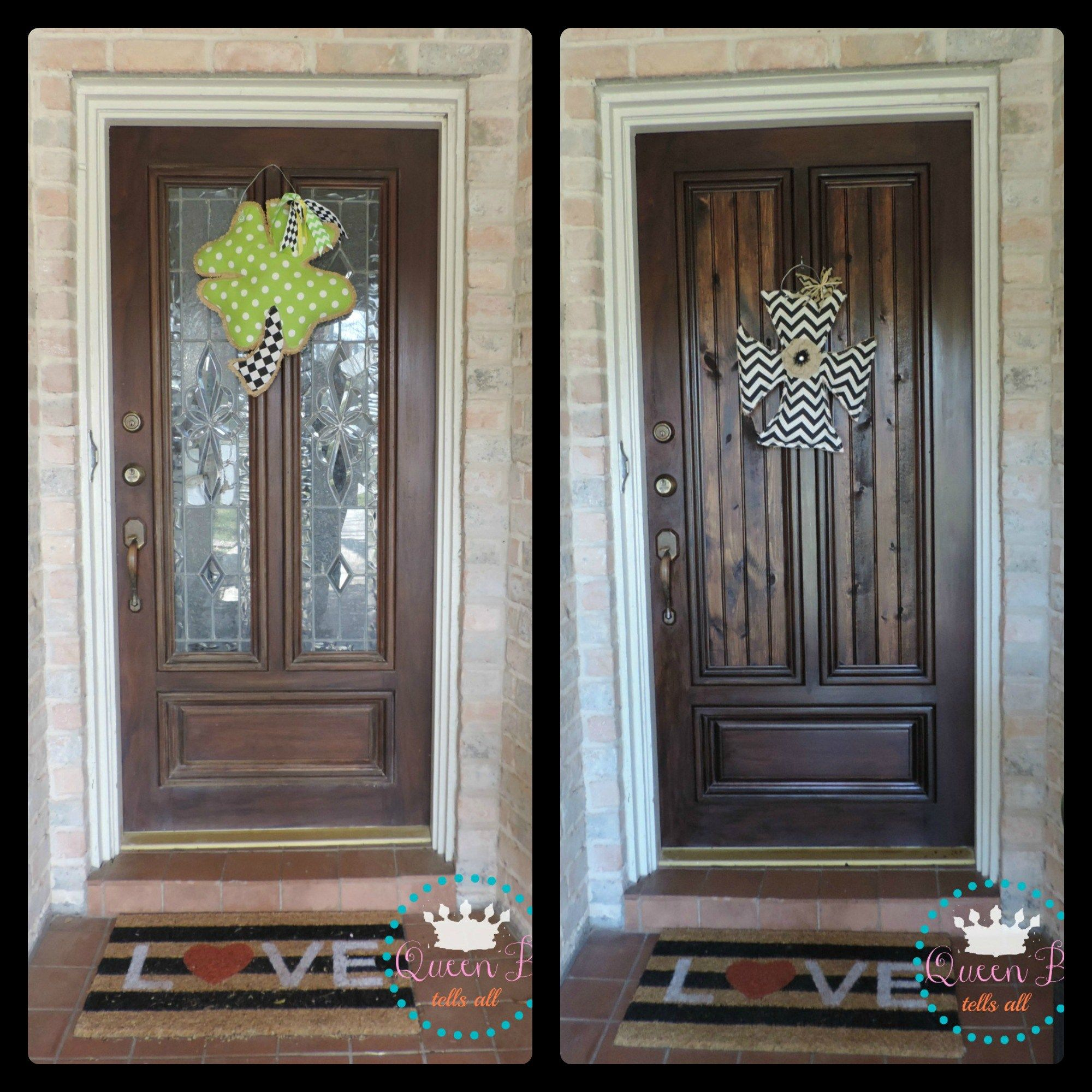 Great How To Replace Glass Door Panels With Wood. Super Easy And Inexpensive!