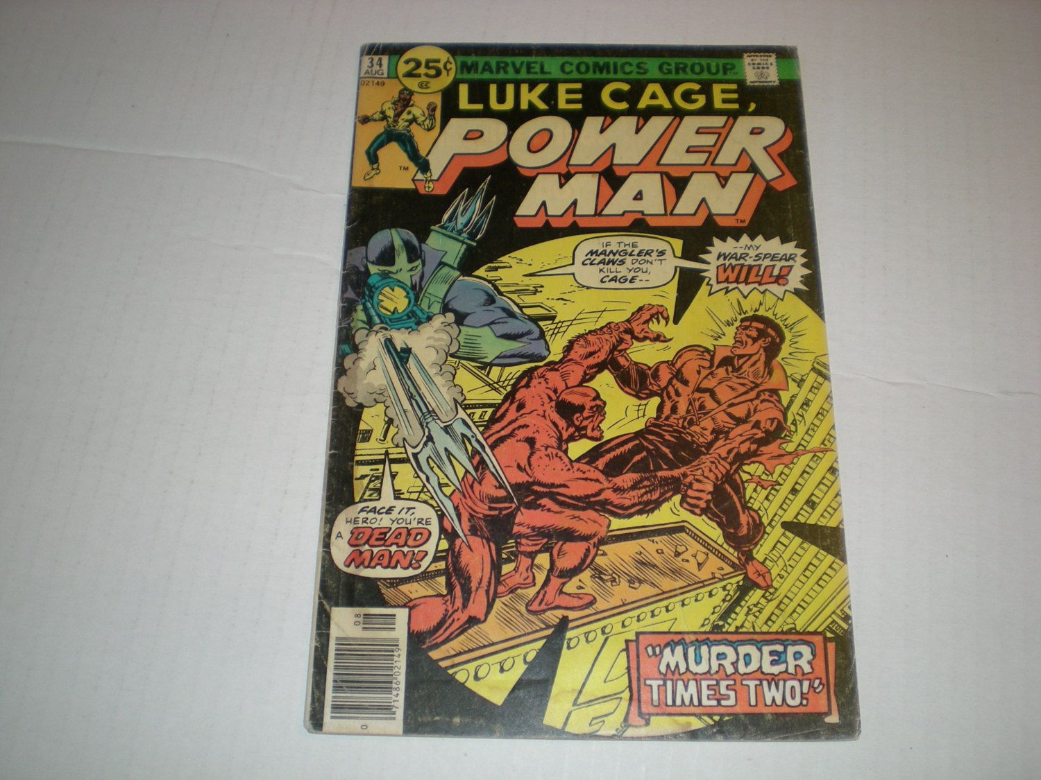 Power Man 34, (1976), Spear and Brawler, Marvel Comics  DE1 by HeroesRealm on Etsy