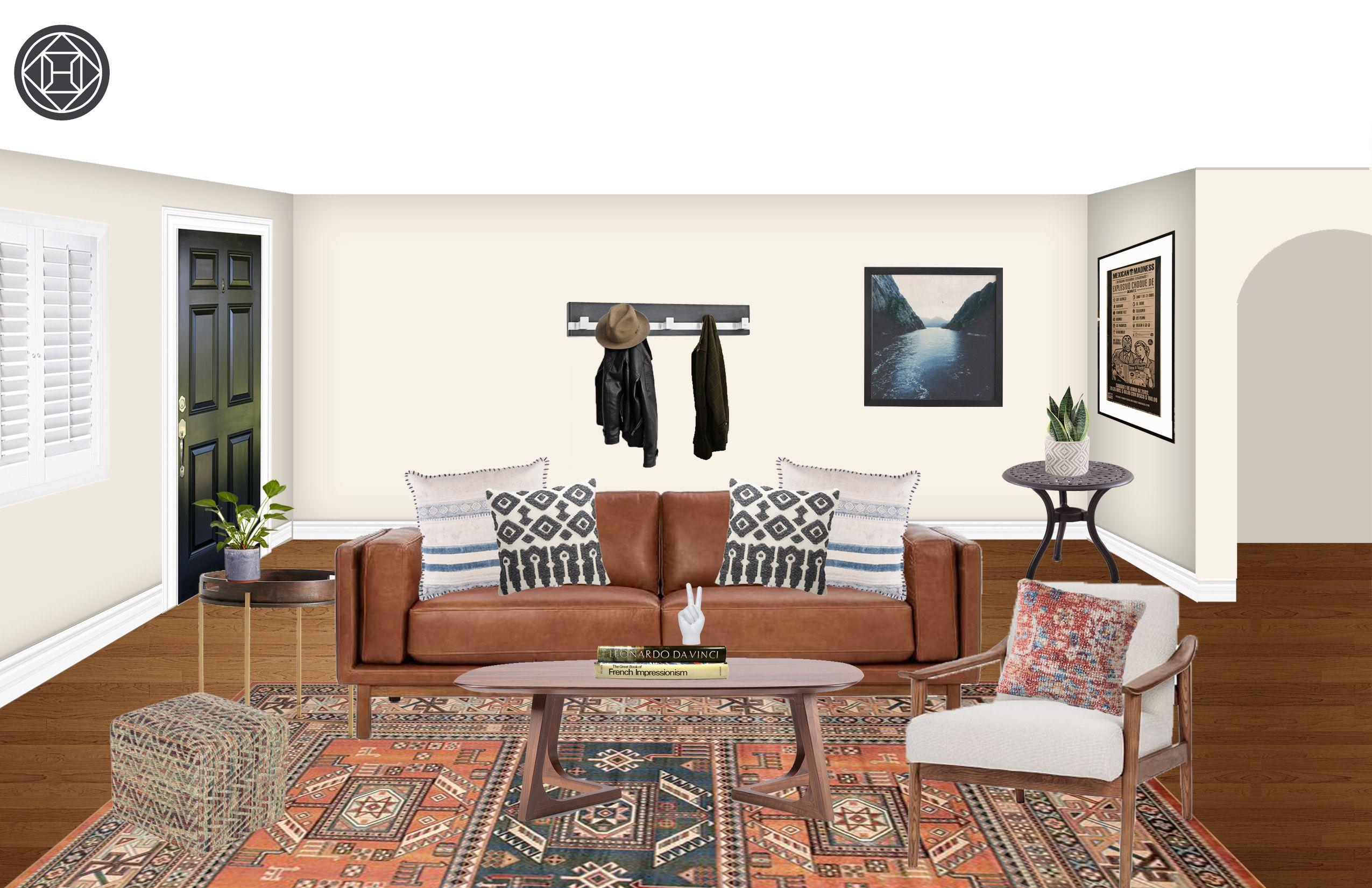 Best Eclectic Bohemian Midcentury Modern Living Room Design 400 x 300