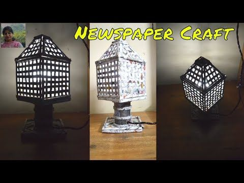 You Newspaper Craft Handmade Lamps Crafts