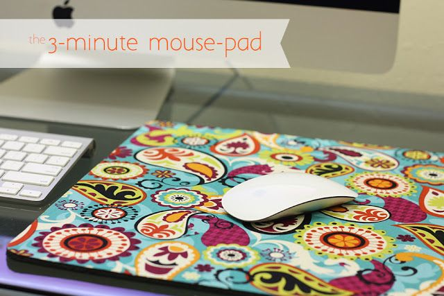 The 3 Minute Mouse Pad Diy Mouse Pad Mouse Pad Homemade Desk