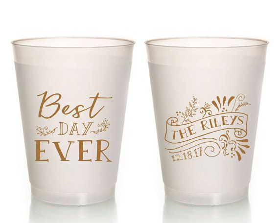 Wedding Cups Best Day Ever Favors Plastic Personalized