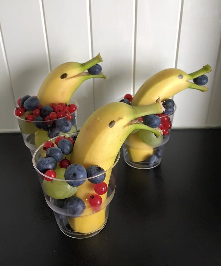 Dolphin bananas healthy snacks for kids