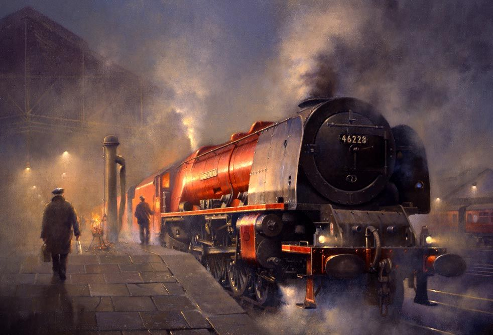 Rugby Midland Station in 1963   Railroad Paintings and Art ...