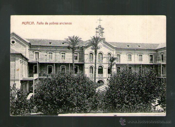 MURCIA ASILO DE POBRES ANCIANOS - Edición THOMAS - Postal (Postales - España - Murcia Antigua (hasta 1.939)) Estuvo entre el Cortes Inglés y la Avenida de Primo de Rivera