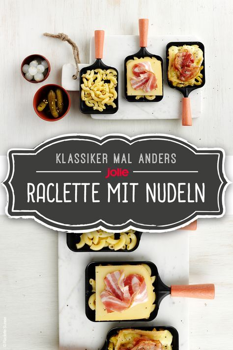 Raclette mit Nudeln
