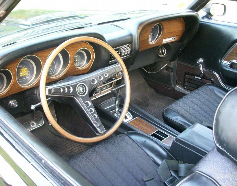 Raven Black 1969 Ford Mustang Grande Hardtop Ford Mustang Mustang Mustang Fastback