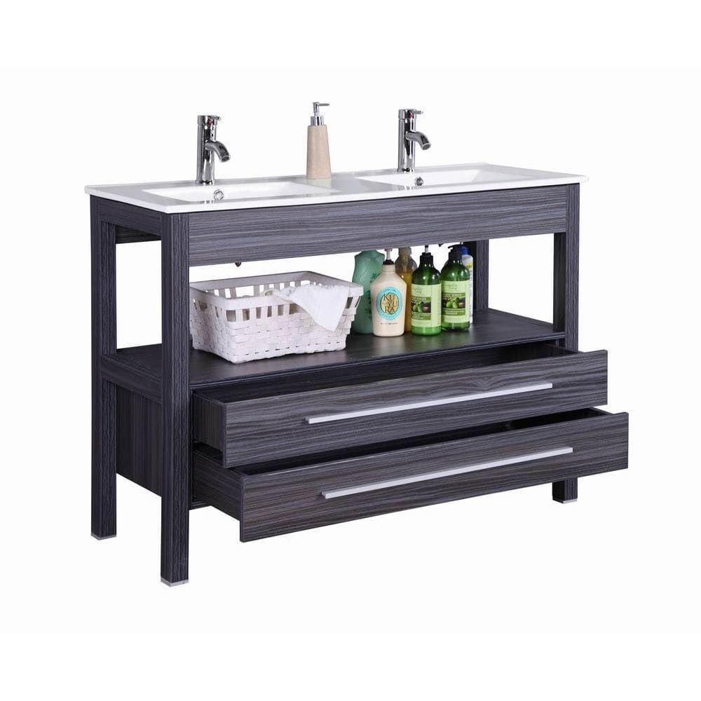 48 inch freestanding modern veneer double sink bathroom on bathroom vanity cabinets clearance id=21801