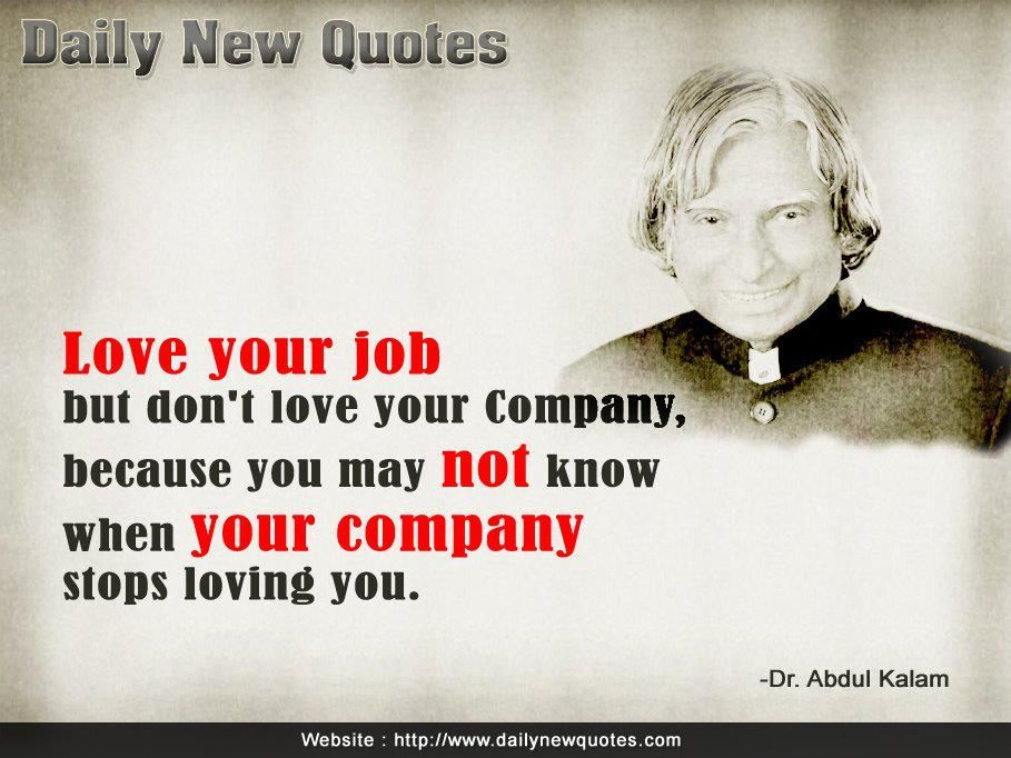 Love Your Job But Don't Love Your Company, Because You May