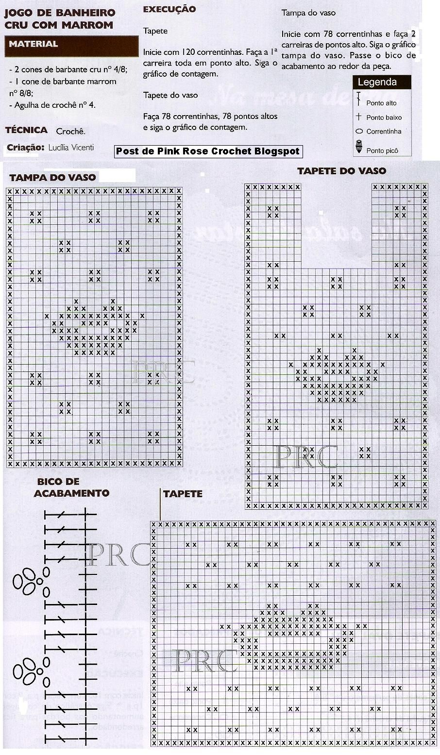 Tapete+Boca+Crochet+p+Banheiro+GR.JPG 906×1,555 píxeles | Set de ...