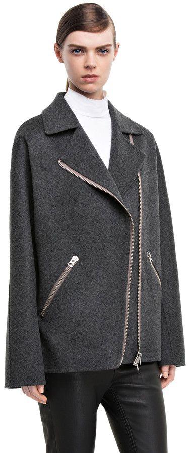 Envier double charcoal grey wool/cashmere blend jacket #AcneStudios #PreFall2014