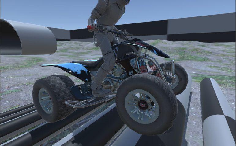 Quad Bike Atv Physics With Wheel System Sponsored