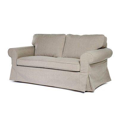 Sofa 2 Sitzer L 175 X T 84 X H 86cm Taupe Sessel Sofas