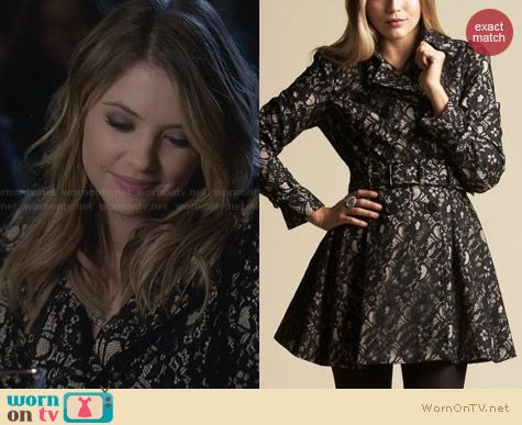 Hanna's lace coat on Pretty Little Liars. Outfit Details: http://wornontv.net/27955 #PLL #fashion