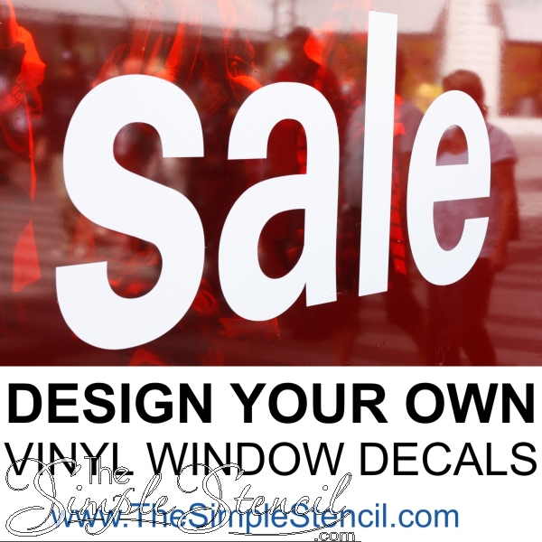 Get Your Business Noticed With Your Own Custom Window Decals That Can Be Designed Online In A Variet Vinyl Window Decals Window Decals Diy Custom Window Decals