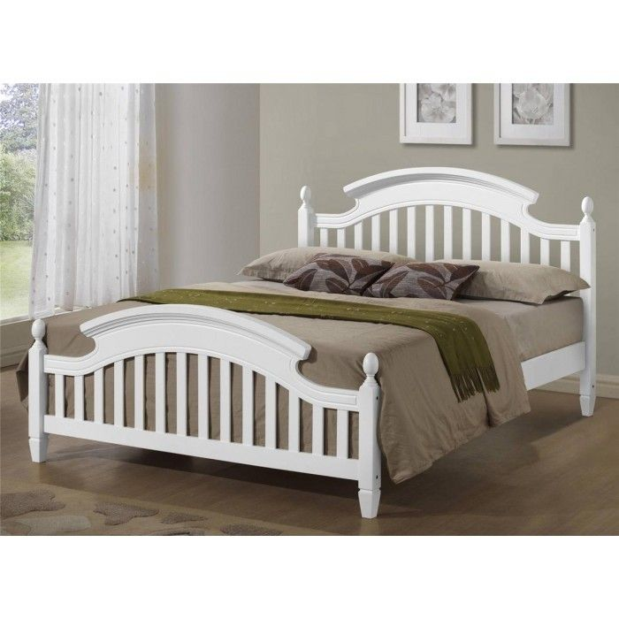 Zara White Arched Wooden Bed Frame Available In Single Double And