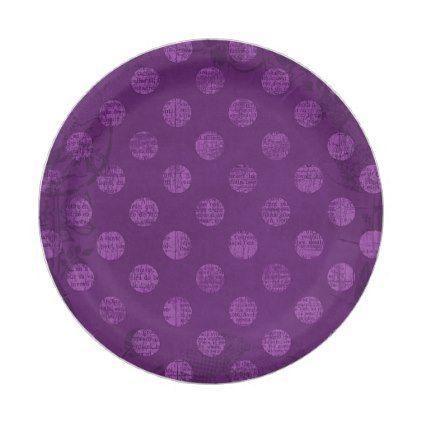Victorian Grunge Colorful Retro Purple Polka Dots Paper Plate | Polka dot paper  sc 1 st  Pinterest & Victorian Grunge Colorful Retro Purple Polka Dots Paper Plate ...