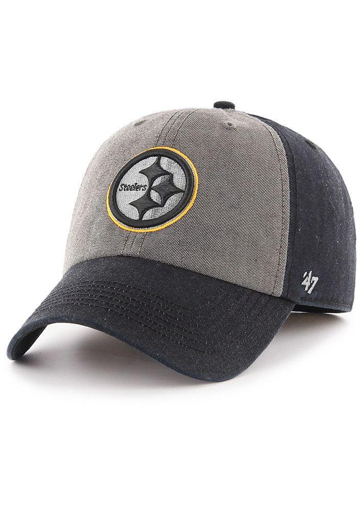 e7df8a93c19 ... wholesale dealer 47 Pittsburgh Steelers Mens Black Encoder Franchise  Fitted Hat.