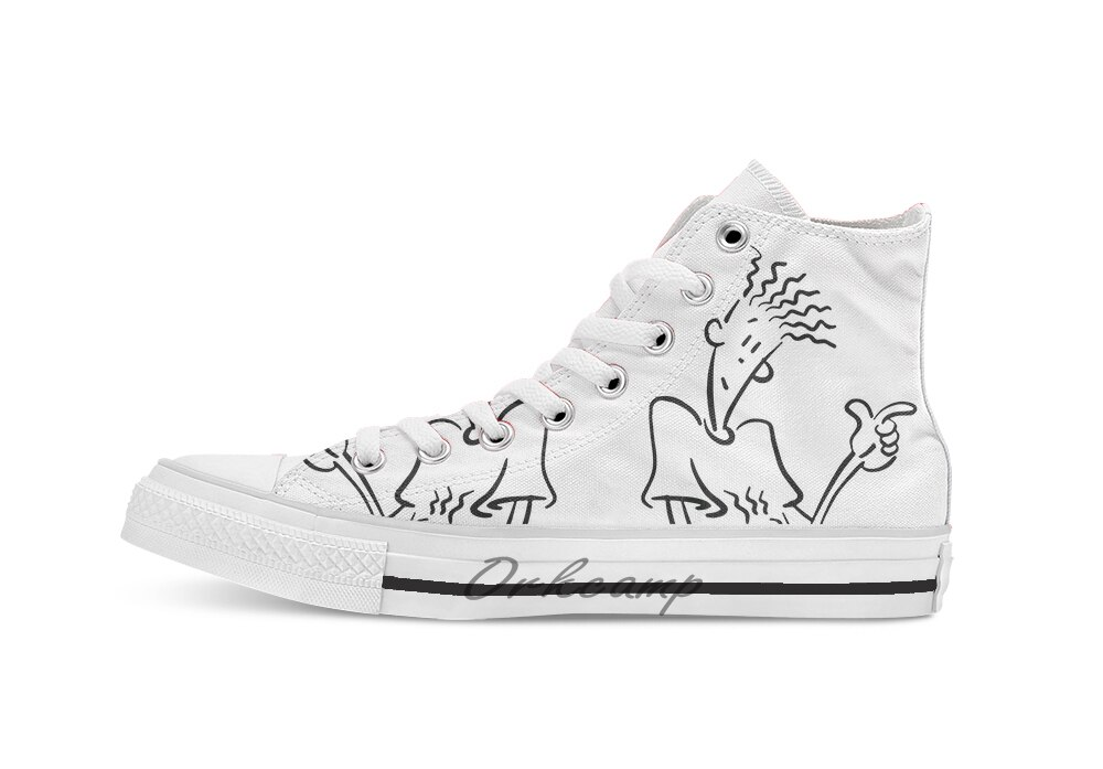 Detener Orgullo Ejercer  Fido Dido Man High Top Canvas Shoes Flat Casual Custom Unisex Sneaker Drop  Shipping-in Skateboarding from Sports & E…   Painted shoes, Canvas shoes,  Unisex sneakers