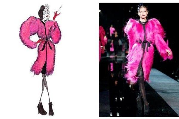 Vilãs da Disney ganham belas roupas de alta-costura da grife Dolce & Gabbana.