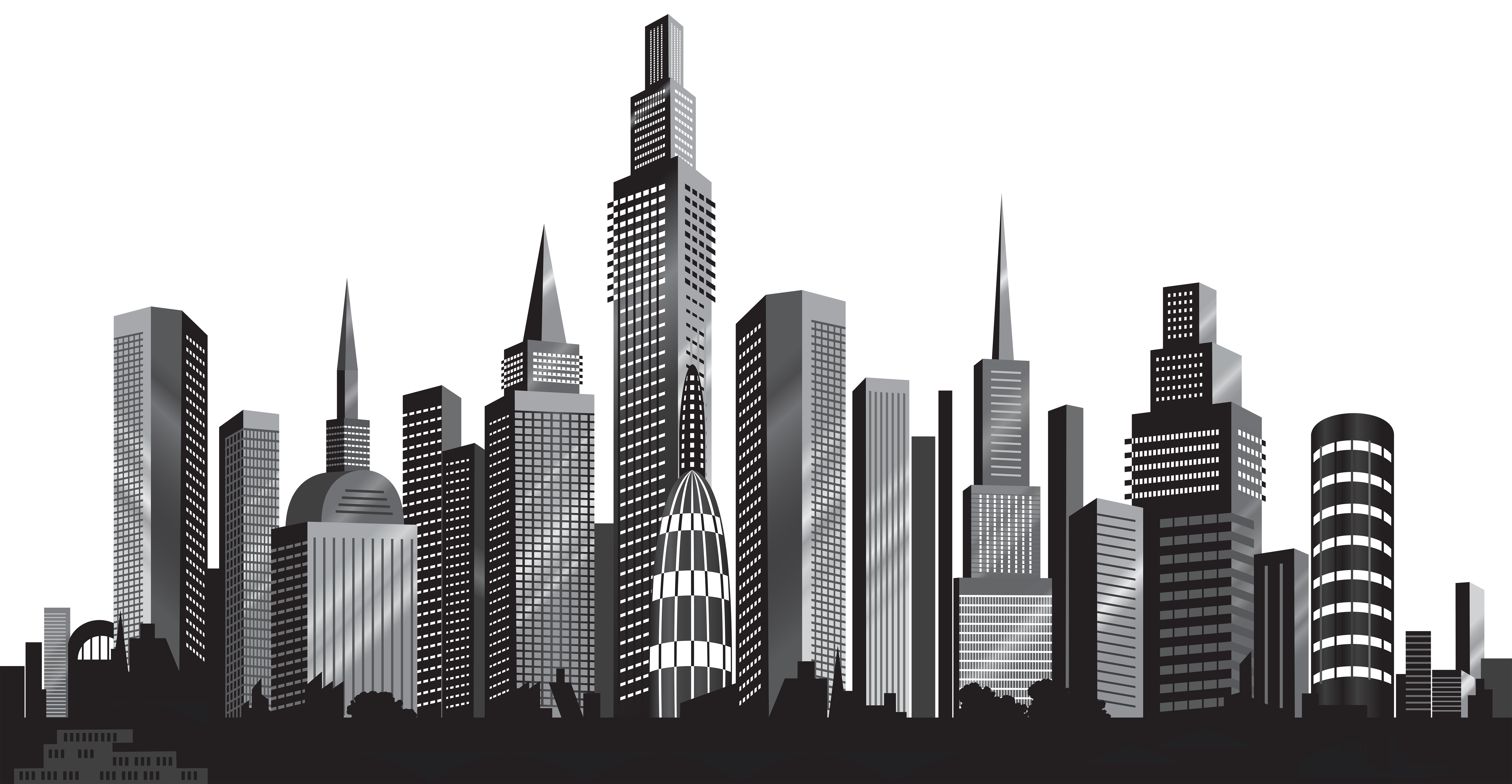 Cityscape Silhouette Png Clip Art Image Gallery Yopriceville High Quality Images And Transparent Png Free Cl Cityscape Silhouette Silhouette Png Cityscape