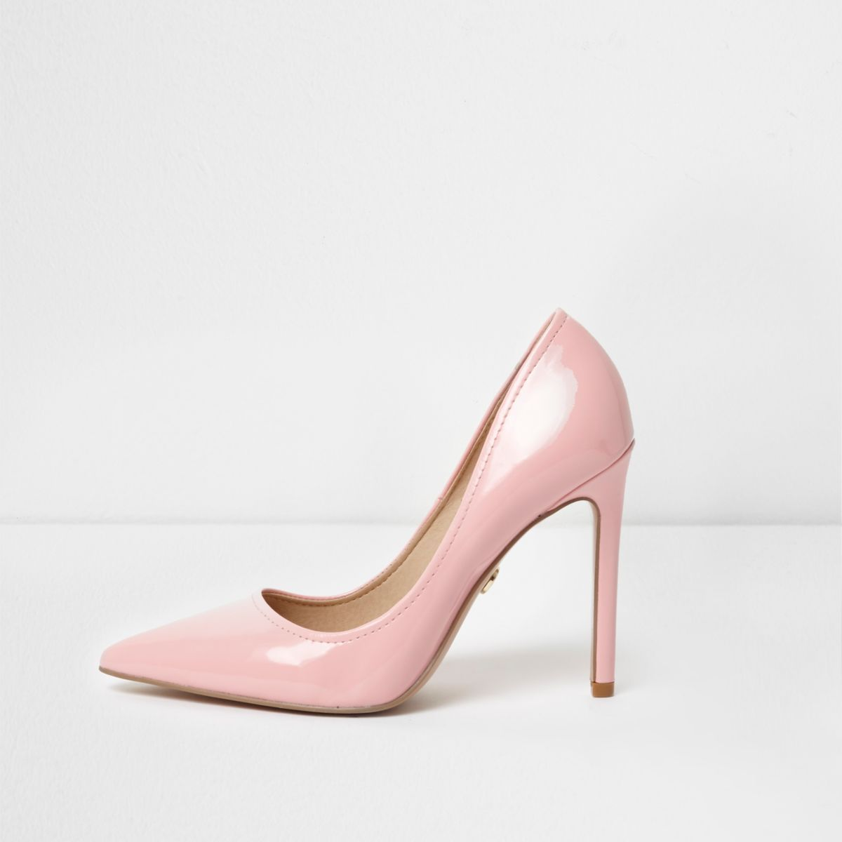 20695b5453f Light pink patent pointed toe court shoes | Shoesy(My Cinderella ...