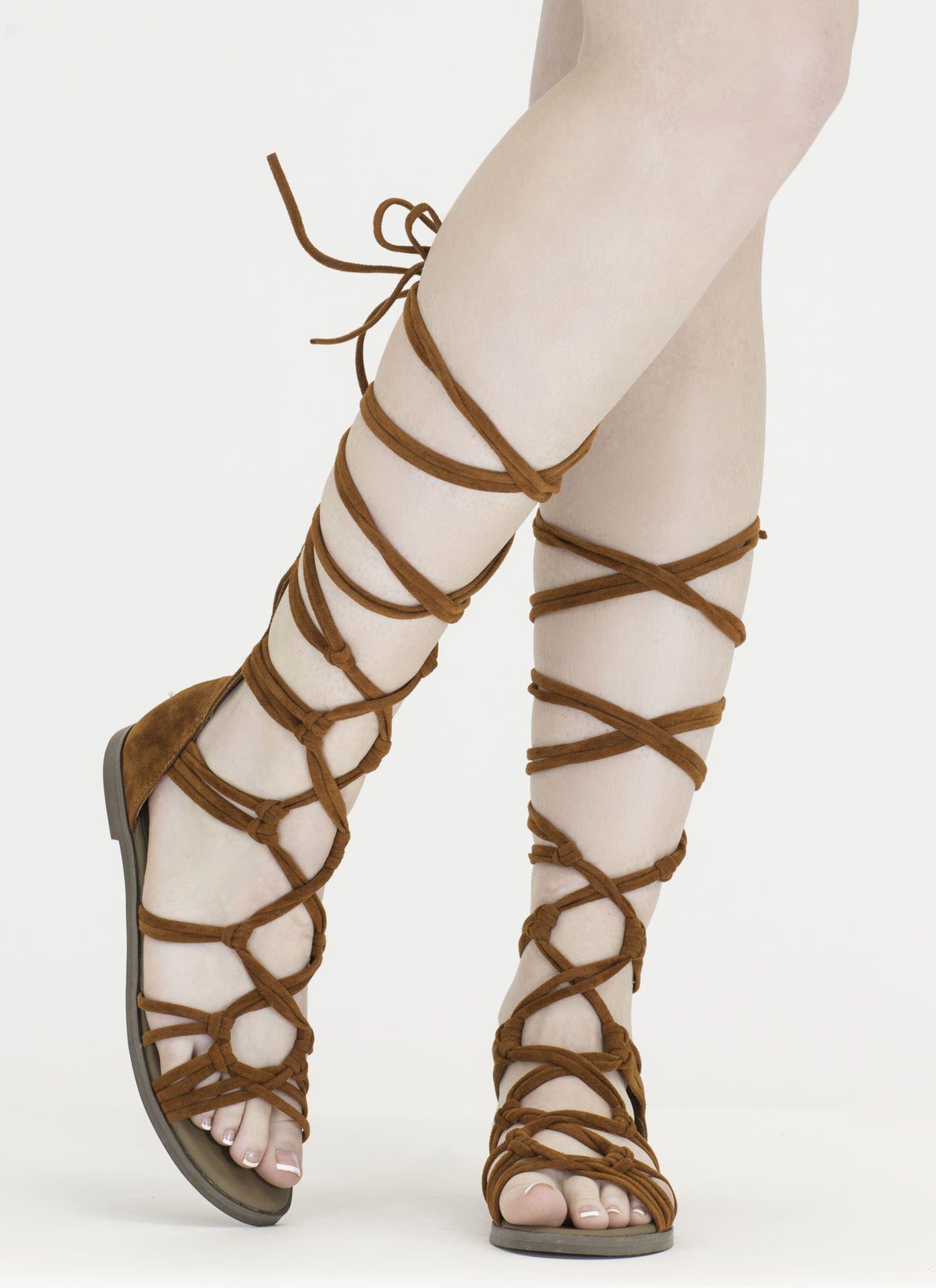 5270a06ffb3b Knotty By Nature Gladiator Sandals GoJane.com