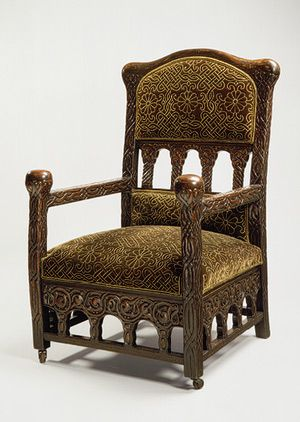Armchair Ca 1920 Was Celtic Inspired This Unusual Armchair Is