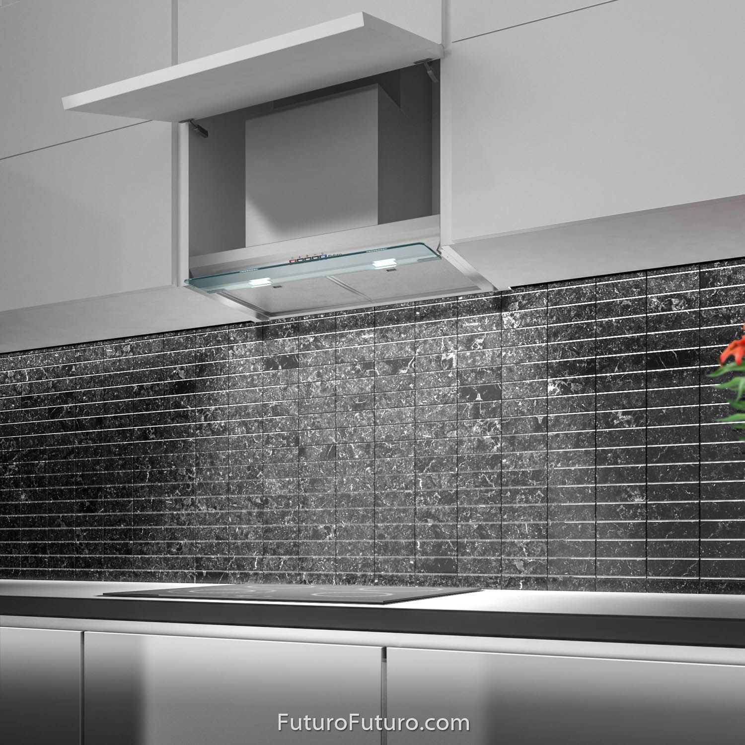 24 Shade Wall The Shade Series Range Hoods By Futuro Futuro Are Designed For Installation Inside A Cabinet Creat With Images Range Hood Kitchen Ventilation Range Hoods