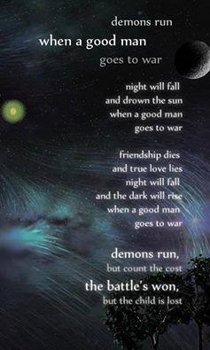 Demons run when a good man goes to war...  #DoctorWho