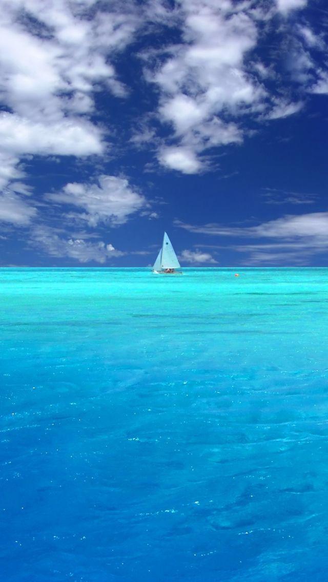 Wonderful Blue Ocean Iphone Wallpapers Paisaje Marino Pintura De Playa Hermosa Fotografia De Paisaje