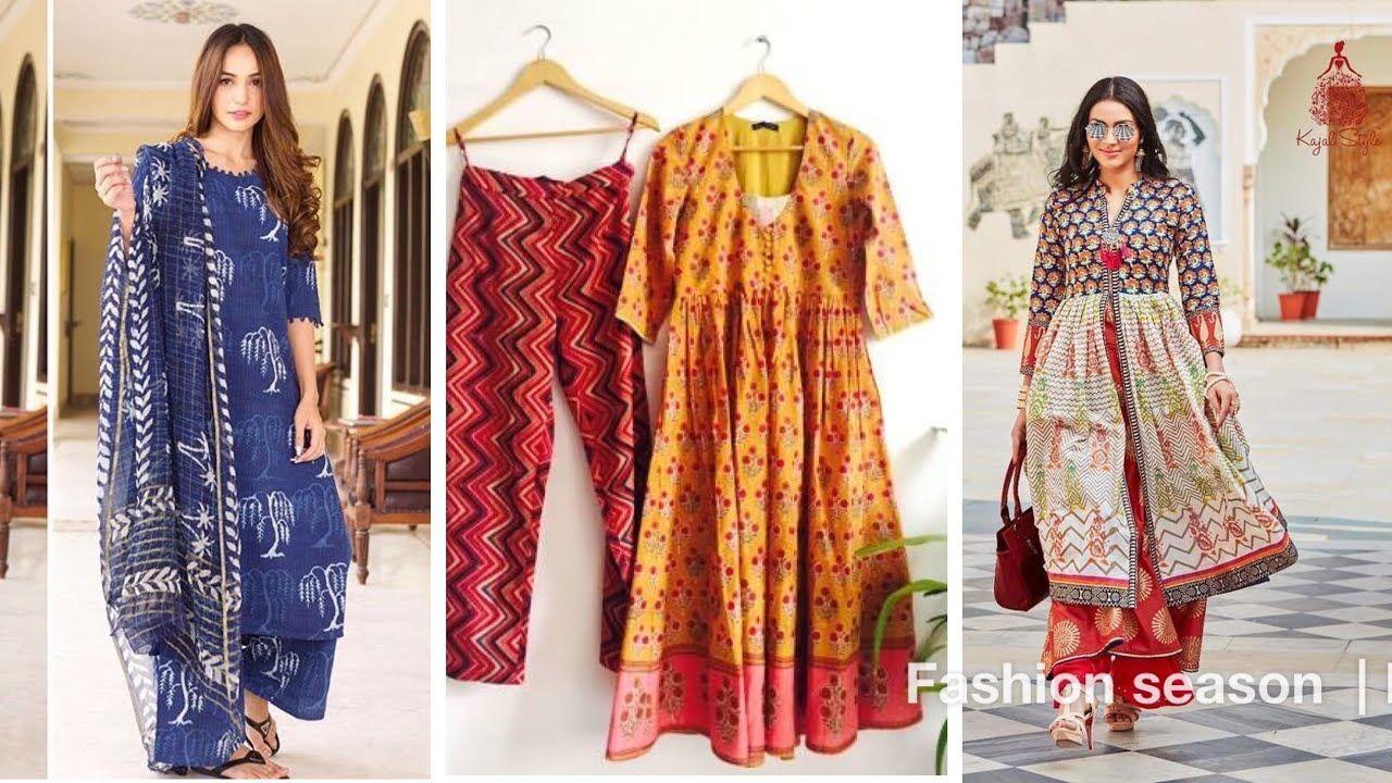 Daily Wear Cotton Suits Design 2019 2020 Youtube Cotton Suits Fashion Seasons Pakistani Dresses Casual