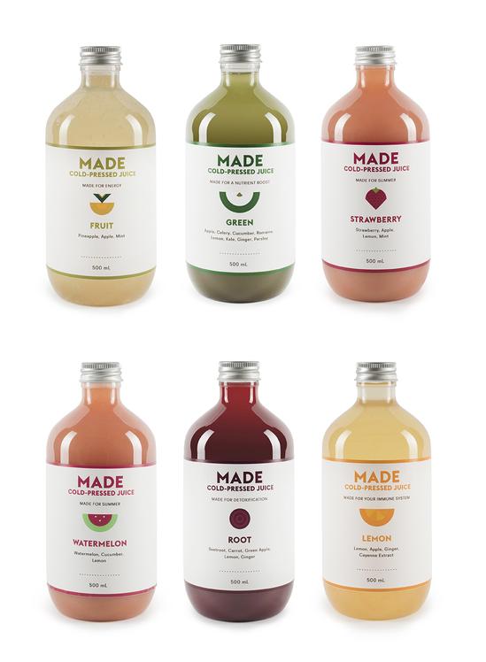 Made Juice | Verpackungsdesign, Getränke und Produktdesign